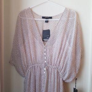 Flowy v- neck dress